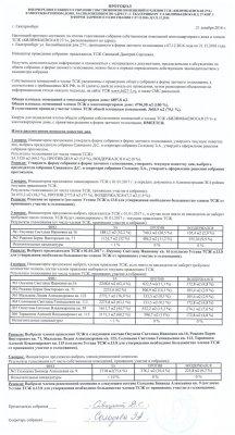 """Результаты заочного голосования ТСЖ """"БИЛИМБАЕВСКАЯ 27/1"""" 07.12.2016-21.12.2016 г."""